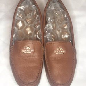 Coach Opal Pebble Leather Loafers 9-1/2B